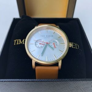 Ted Baker Watch With Brown Leather Straps